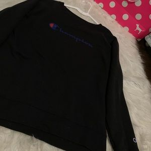 Black champion crewneck